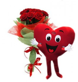 Букет Романтик + Курьер-Сердце