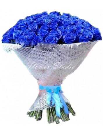 Букет Океан любви из 101 синей розы
