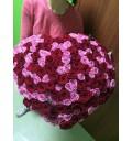 Букет Сердечный ритм из 101 розы в форме сердца