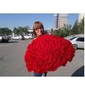 Букет Пламя чувств из 151 красной розы