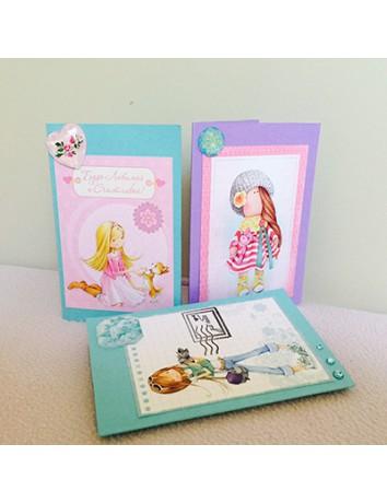 Уникальная открытка Для девочек
