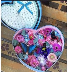 Бабочки и цветы