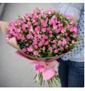 Букет Розовая надежда из мелкоцветковой розы