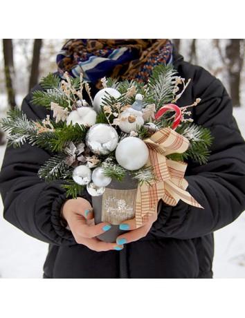 Цветы в стаканчике Зимний