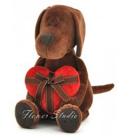Мягкая игрушка Пес Барбоська с сердцем