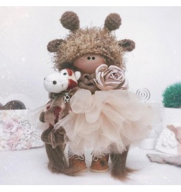 Кукла Тильда Жирафик