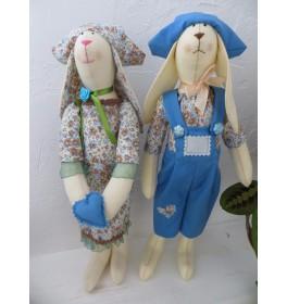 Мягкая игрушка Влюбленные зайцы Тильда