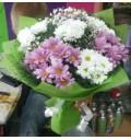 Букет Краски дня из кустовых хризантем 7 штук