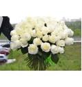 Букет Белоснежный из белых роз