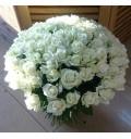 Букет Белая вуаль из 101 белой розы