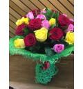 Букет Яркие впечатления из 21 розы