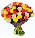 Букет Красивый комплимент из 51 разноцветной розы