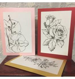 Дизайнерская Открытка Цветы