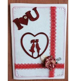 Уникальная открытка LOVE