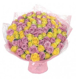 Розово желтый микс