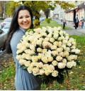 Букет Спасибо за мечту из 101 кремовой розы