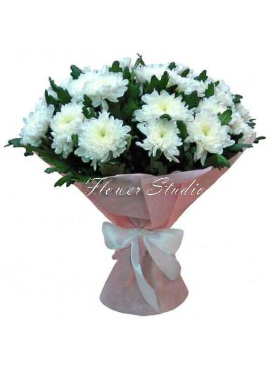 фото букет с хризантемами
