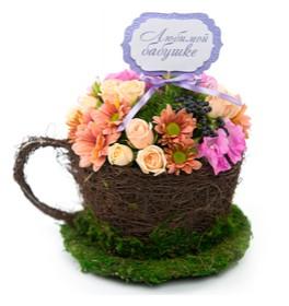 Композиция Чаша с цветами