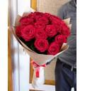 Букет Розы любви из 19 красных роз