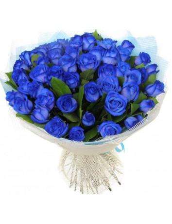 Букет Синий берег из 51 синей розы