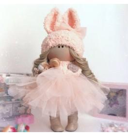 Кукла Тильда Персиковая Зайка