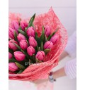 Букет Прелесть из 19 розовых тюльпанов