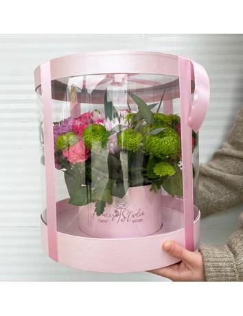 Цветы в прозрачной коробке Мелисса