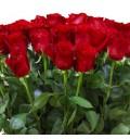 Букет История любви из красных голландских роз