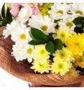 Букет Сказка для двоих из разноцветных хризантем