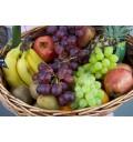 Подарочный набор Тропикана из разных фруктов в корзине