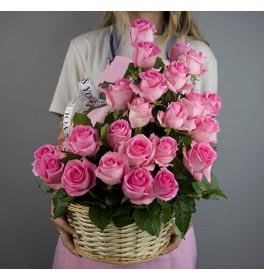 Корзина цветов Прикосновение сердца