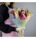 Букет 19 маттиол из весенних цветов