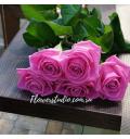 Букет Страна чудес из 5 розовых роз