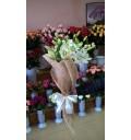 Букет Освежающий из белых лилий