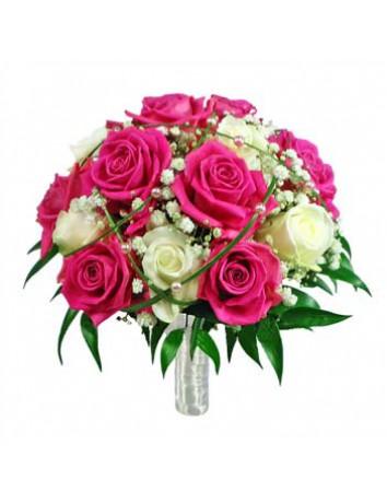 Свадебный букет Розовые чудеса