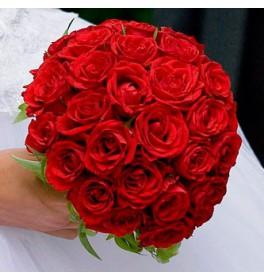 Свадебный букет Алая роза