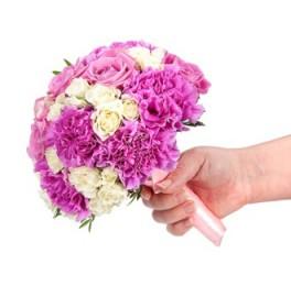 Свадебный букет  Розовая жемчужина