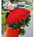 Букет Быть с тобой из 101 красной розы
