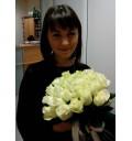 Букет Мелана из 19 белых роз