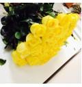 Букет Счастье из 25 желтых голландских роз
