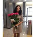 Букет Моей Королеве из 25 розовых голландских роз