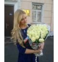 Букет Облако роз из 21 белой розы